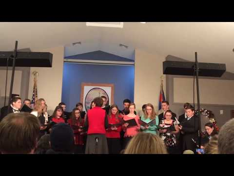 """Gotta Whisper, Gotta Shout!"" by Utica Christian School Sr. High Choir - Christmas Program 2018"