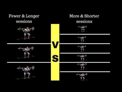 Training Sessions: More Short ones vs Less Longer ones