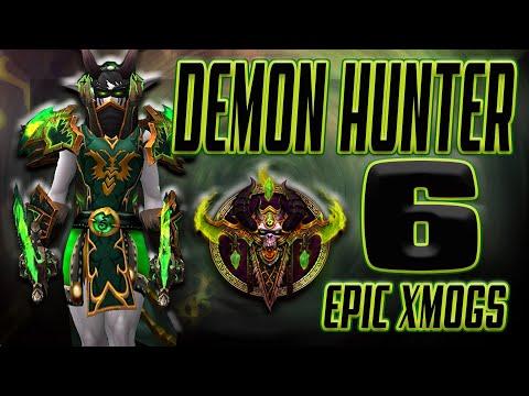World of Warcraft BFA - 6 Unique Demon Hunter Transmog Sets