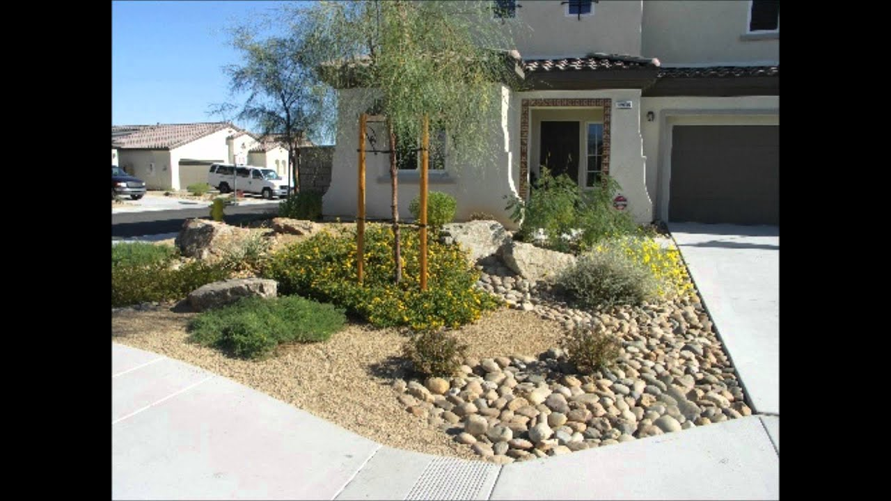 Desert landscaping desert landscaping youtube for Front landscaping plans