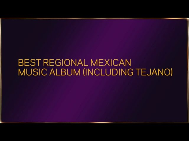 Pepe Aguilar reads Nominations for Latin and Instrumental fields | 2021 GRAMMYs
