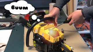 How do we start a flooded chainsaw. How to correctly start a chainsaw