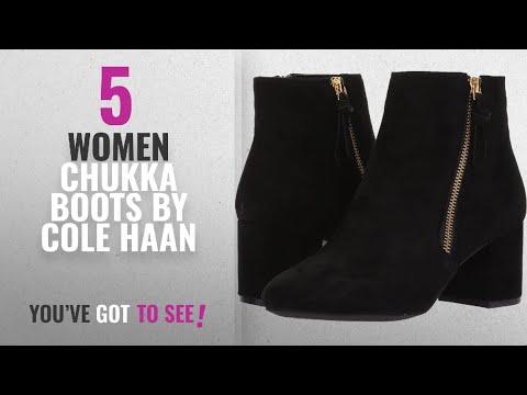 Top 10 Cole Haan Women Chukka Boots [2018]: Cole Haan Women's Saylor Grand Bootie II, Black Suede, 9