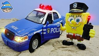SpongeBob becomes a cop. Get a police car to arrest the bad guys.