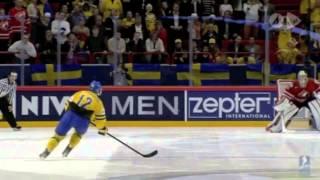 Sverige - Kanada Hockey-VM 2013 Fredrik Pettersson och Lasse Granqvist