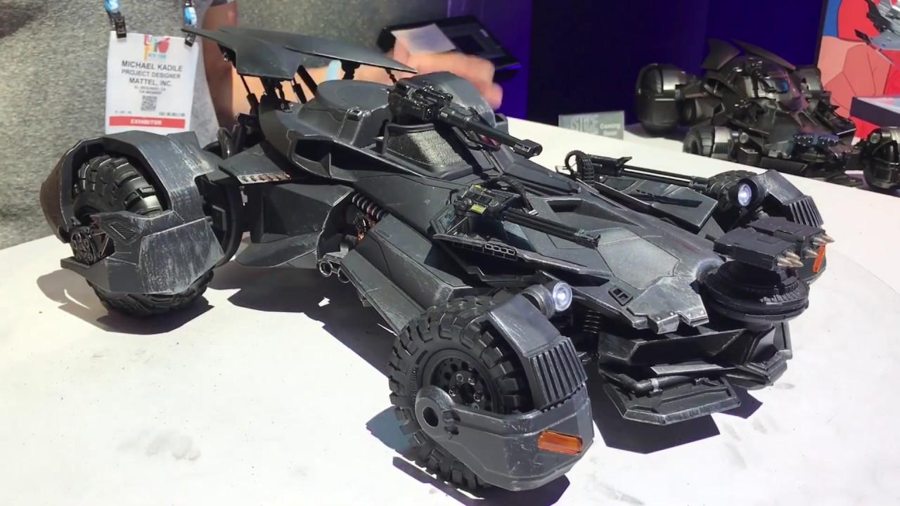 Toy Fair 2017 Mattel Justice League Batmobile Youtube