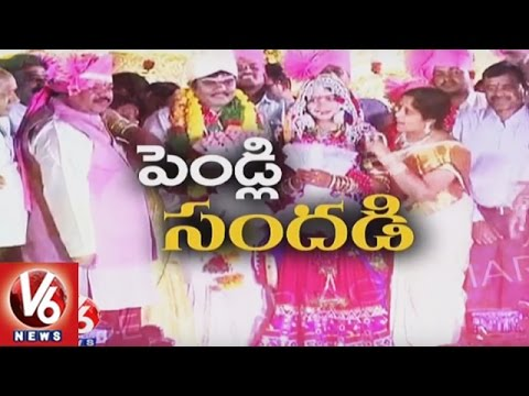 Banjara Traditional Marriage - MLC Ramulu Naik Son's Wedding Ceremony | V6 News