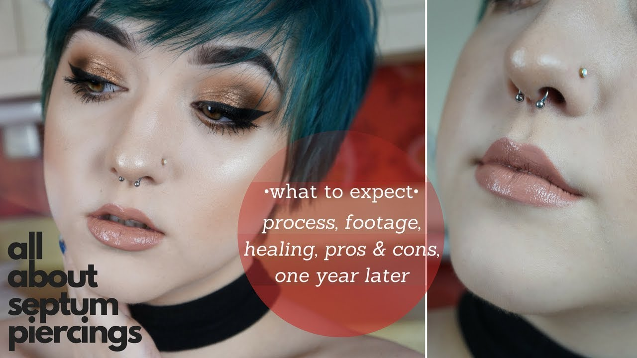 Septum Piercing 101 Process Footage Aftercarehealing Pros And