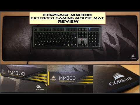 7320b326922 Corsair MM300 Extended Anti-Fray Cloth Gaming Mouse Mat: Review - YouTube