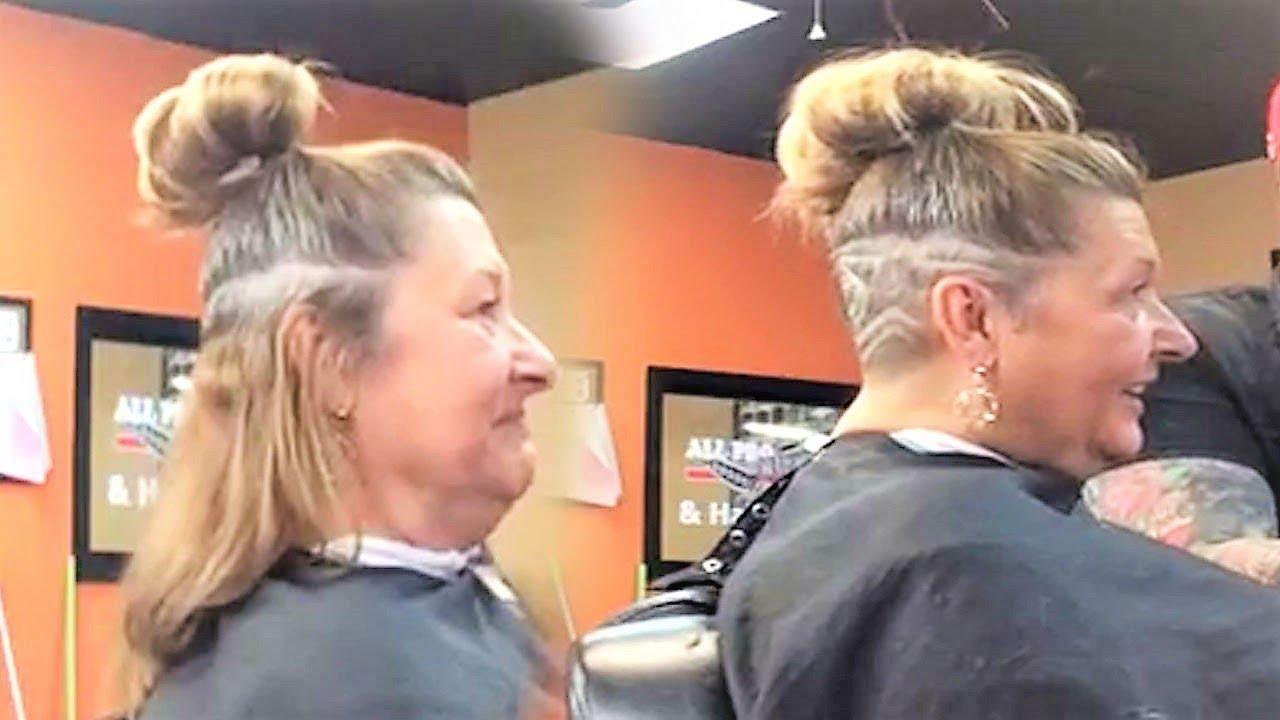 Undercut Undershave Long Hair Women Hair Tattoo Barbershop Women Youtube
