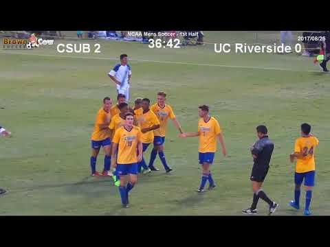 20170825 CSU Bakersfield Mens Soccer V UC Riverside Highlights