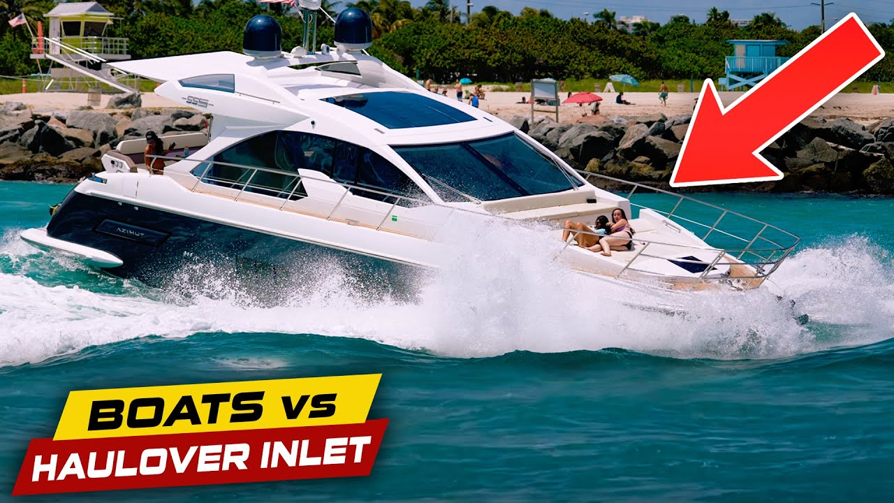THESE GIRLS WERE NOT READY FOR HAULOVER!   Boats vs Haulover Inlet