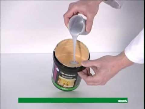 Decorglitter come applicare la pittura decorativa oikos   youtube