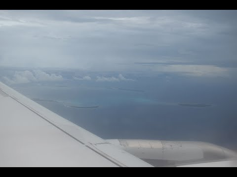 Approach and landing at Cocos (Keeling) Islands