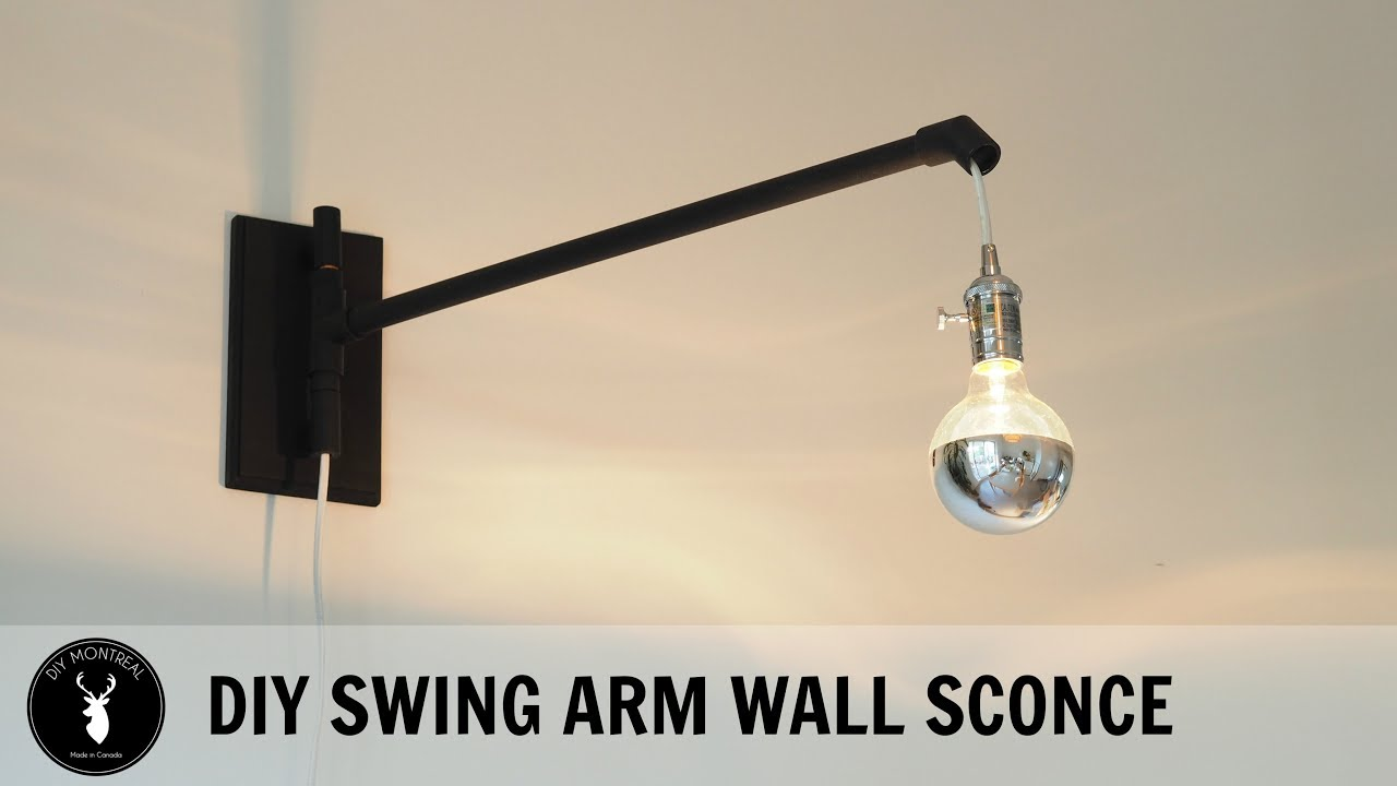 Swing Wall Lamp Diy Swing Arm Wall Sconce