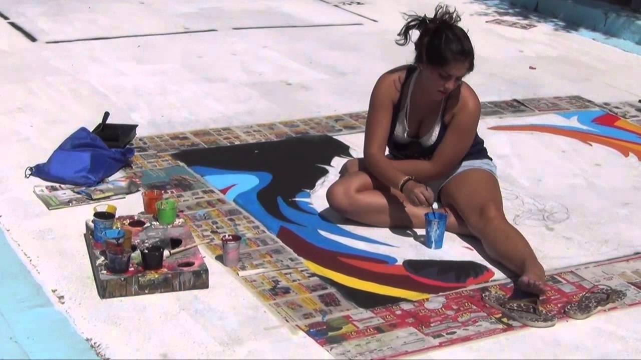 Concurso Pintura en asfalto Fiestas Barrio Obrero Puerto Sagunto 2015