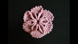 How to Crochet a Flower Pattern #7- 3D