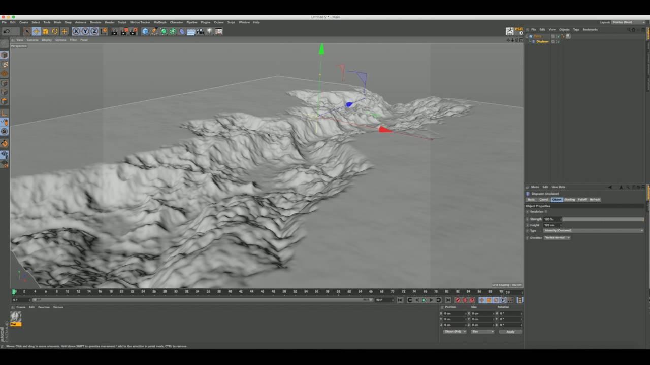 Cinema 4d displacement landscape tutorial youtube cinema 4d displacement landscape tutorial gumiabroncs Choice Image