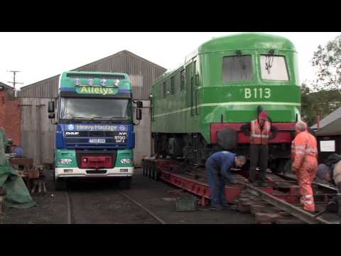 Diesel railway locomotives move to Ulster Folk and Transport Museum
