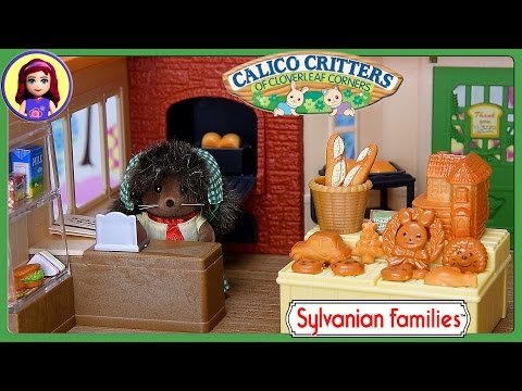 Sylvanian Families Calico Critters Brick Oven Bakery Hedgehog Unboxing Review Setup - Kids Toys