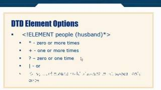 XML Tutorial   26 DTD Schema Element Options