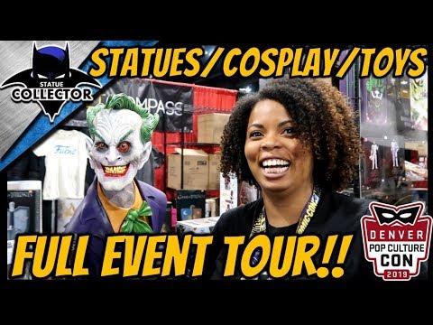 Denver Pop Culture Con 2019 ~  Event Tour  Statues~Art~Cosplay & Toys