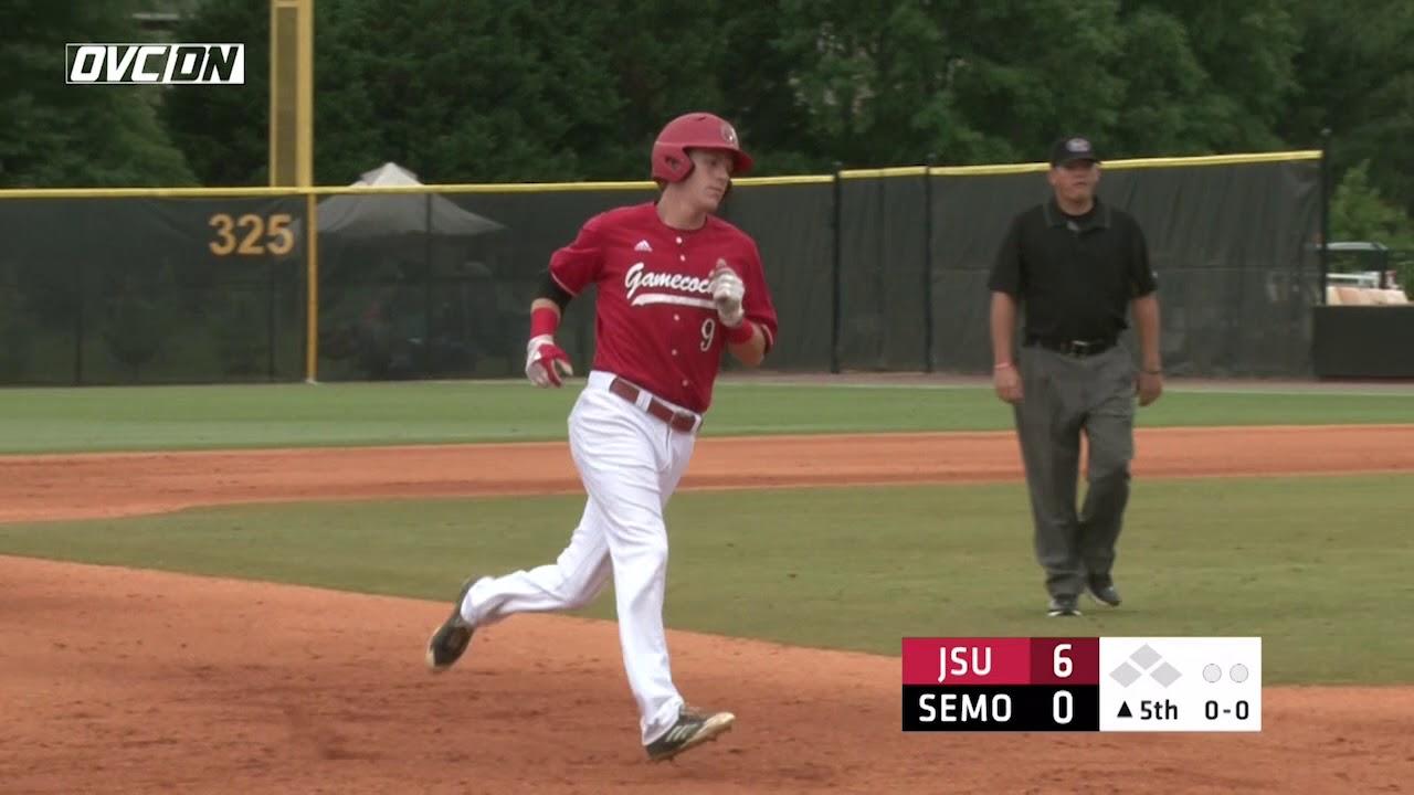 2018 OVC Baseball Tournament Highlights - #4 Jacksonville St 11, #2 SE  Missouri 0 - May 25, 2018