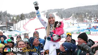 Lindsey Vonn's final downhill run and official farewell to skiing | NBC Sports