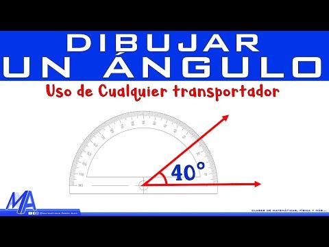 Qué es y como dibujar un ángulo
