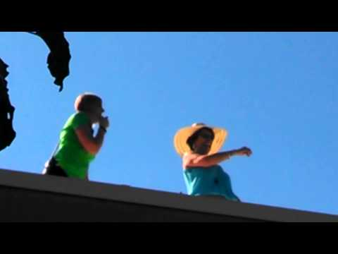 Crowders Creek Elementary School principals spend a day on the roof