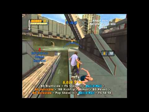 Tony Hawk's Pro Skater 4: Chicago goals [HD]