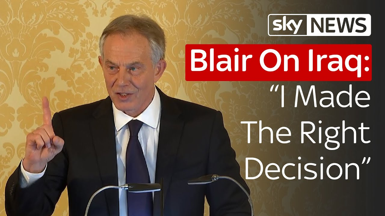 Tony Blair Responds To The Iraq Inquiry In Full Youtube