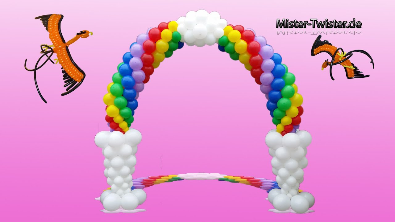 Balloon Rainbow Arch Decoration Birthday Ballon