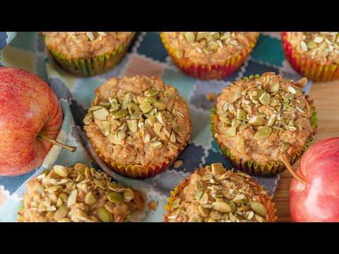 ЯБЛОЧНЫЕ КЕКСЫ с овсянкой | овсяные маффины с яблоками | вкусный полезный простой рецепт