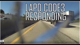 LAPD Code 3 Responding (Bumper cam)