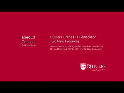 Podcast - Two New Rutgers Online HR Certificate Programs