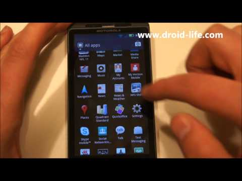 DROID X Gingerbread (Android 2.3) Walk-through