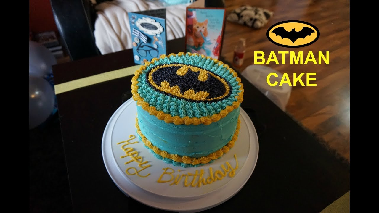 How To Decorate A Batman Cake Summer 2017 Youtube