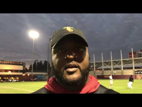 Tuesday (12/20) USC Rose Bowl practice Tee Martin