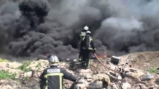 12.04.2013 Incendio depósito neumáticos San Fernando de Henares
