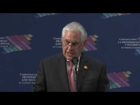 Secretary of State Rex Tillerson delivers opening remarks