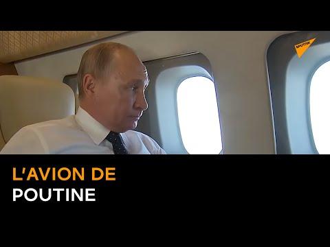 L'avion de Poutine accompagné par des chasseurs des Forces aérospatiales russes