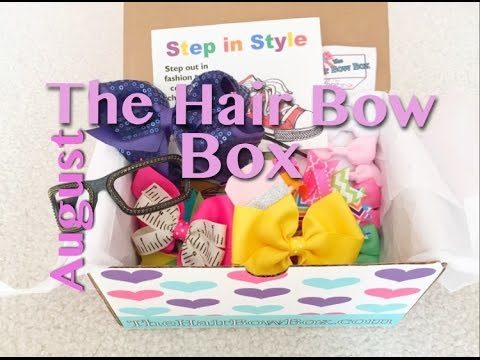 hair bow box subscription august