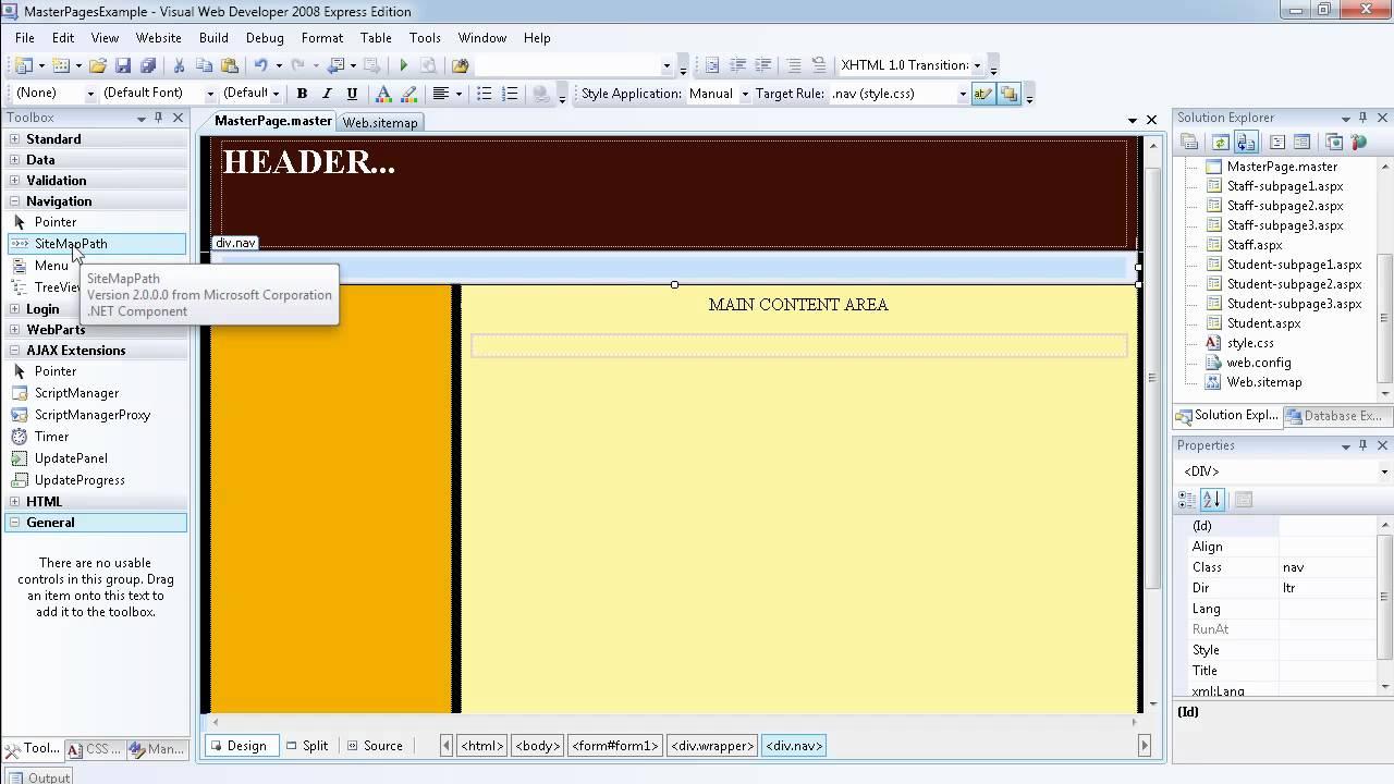 Download 36 - ASP.NET SiteMapPath Navigation Control