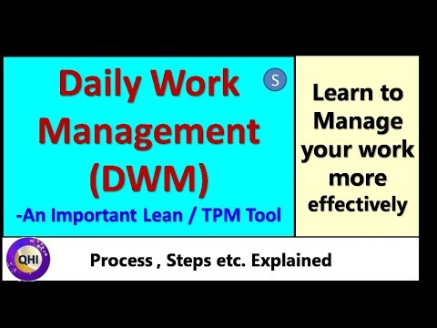 daily work management dwm an important lean tool s youtube