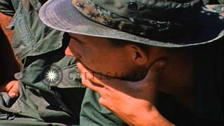 Soldiers of 26th Infantry briefed by officer at 1st Infantry Division stand down ...HD Stock Footage