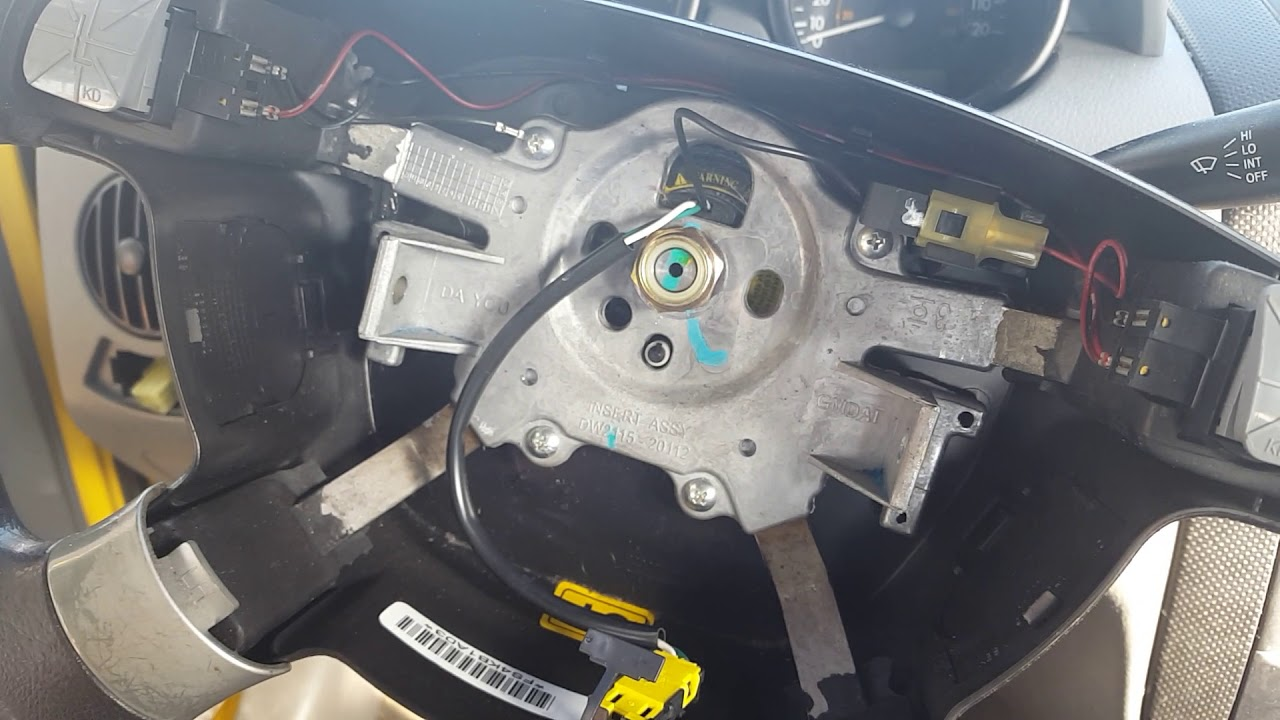 hight resolution of how to remove the horn button on a chevy aveo youtube 2004 aveo horn diagram