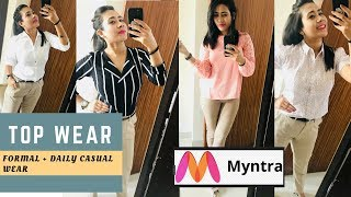 MYNTRA TOP WEAR HAUL - FORMAL + DAILY WEAR TOPS