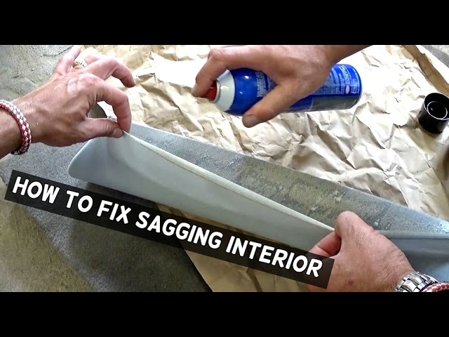 How To Fix Sagging Headliner Or Interior Trim Youtube