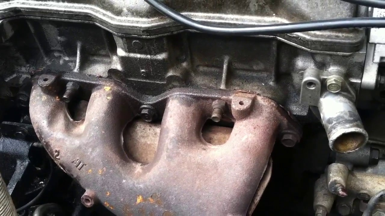 How To  Remove Exhaust Manifold On Toyota Corolla